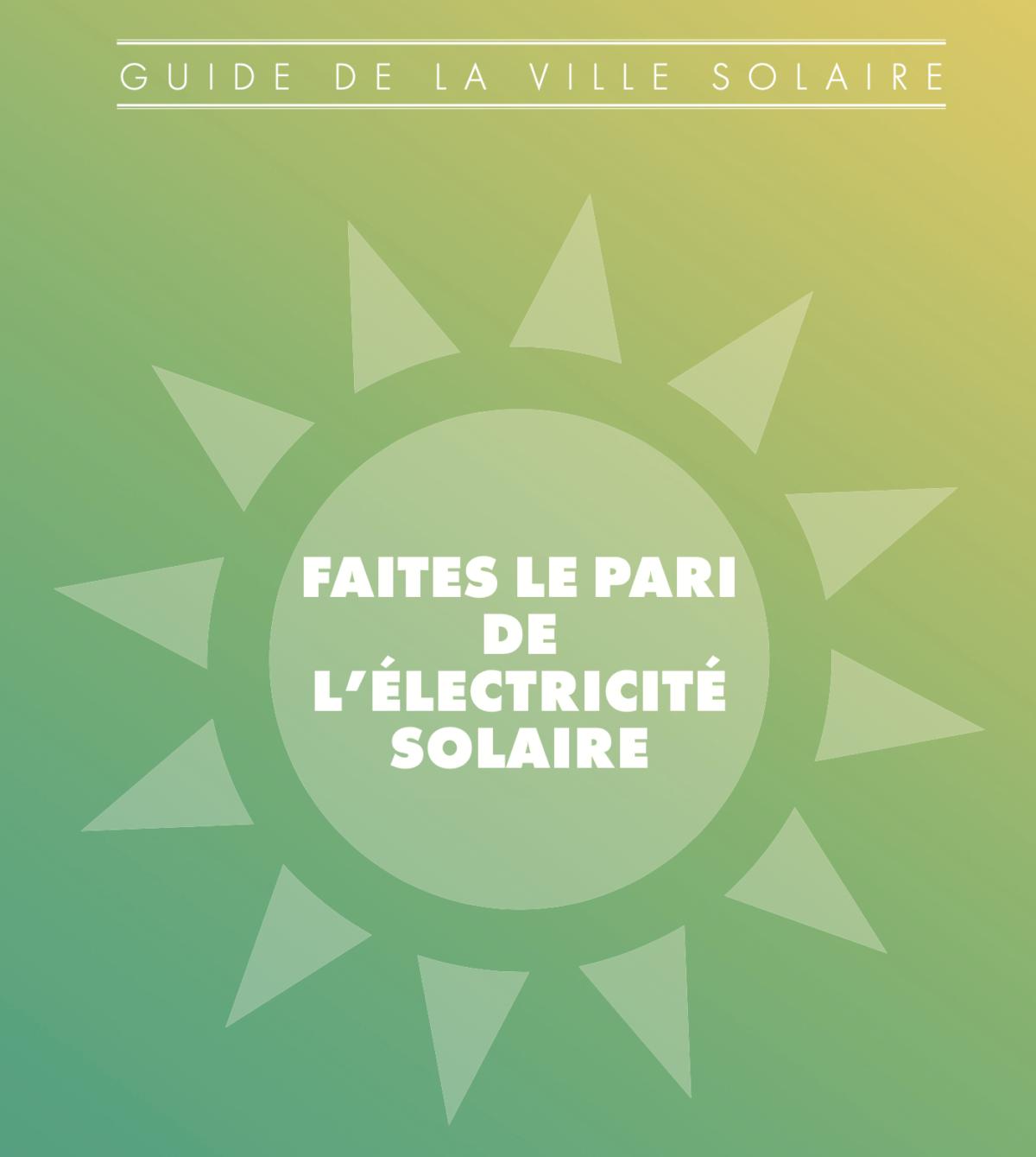 Inscrire le développement de l'énergie solaire dans les priorités municipales